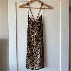 Size M Cheetah Print Bodycon Sexy Mini Dress